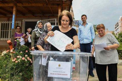Çiğli Belediyesi'nde bir ilk: Vatandaşlar öneri ve talepleri için sandığa gitti