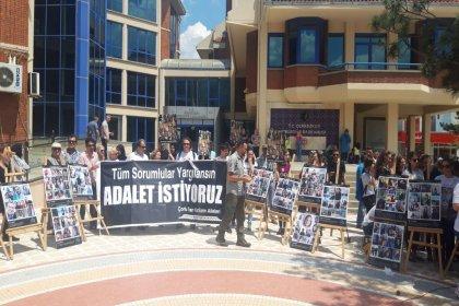 Çorlu tren faciasında hayatını kaybedenlerin aileleri #AdaletNöbeti için Çerkezköy'deydi