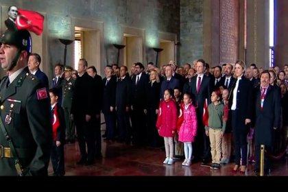 Devlet erkanı 23 Nisan için Anıtkabir'de bir araya geldi, Kılıçdaroğlu, Bahçeli ve Akşener'in katıldığı törende Erdoğan yer almadı
