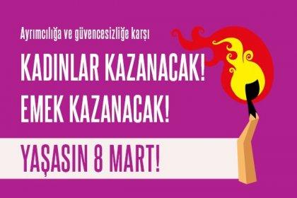 DİSK'ten '8 Mart Dünya Emekçi Kadınlar Günü' çağrısı