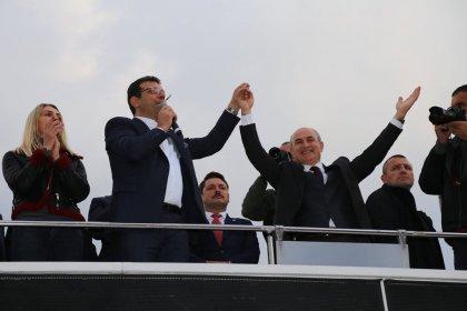Ekrem İmamoğlu, Belediye başkanı Hasan Akgün'e destek için Büyükçekmece'de