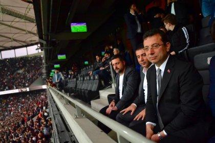 Ekrem İmamoğlu Beşiktaş-Başakşehir maçında