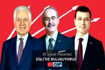 Ekrem İmamoğlu ve Yılmaz Büyükerşen Şişli Belediye başkan adayı Muammer Keskin ile Şişli'de buluşuyor
