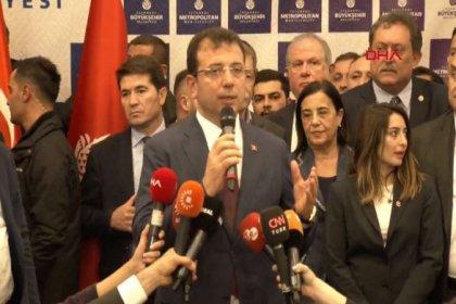 Ekrem İmamoğlu'ndan Saraçhane'deki İBB binasında ilk açıklama