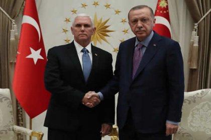 Erdoğan, ABD Başkan Yardımcısı Pence ile bir araya geldi