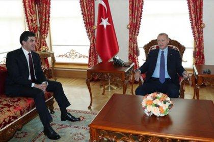 Erdoğan, Barzani'yle görüştü