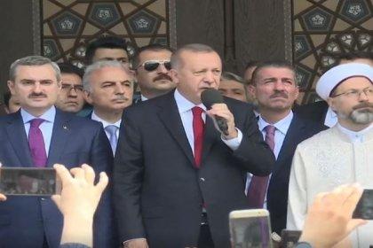 Erdoğan cami açılışında Binali Yıldırım'a oy istedi: Herhalde sandığın hakkını vereceğiz. İnşallah hırsızlara bu işi bırakmayacağız