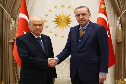 Erdoğan ve Bahçeli Beştepe'de bir araya geldi