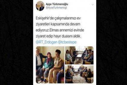 Seçim çalışması yapan Erdoğan'ın başdanışmanı, 'ev ziyareti'ne gittim' dedi, kendi evi çıktı!