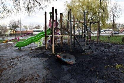 Eskişehir'de çocuk parkını yaktılar!