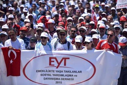 EYT'liler Tandoğan Meydanı'nda: Mezarda emeklilik istemiyoruz