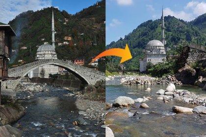 Geçen yıl restorasyonu yapılan 300 yıllık köprü çöktü