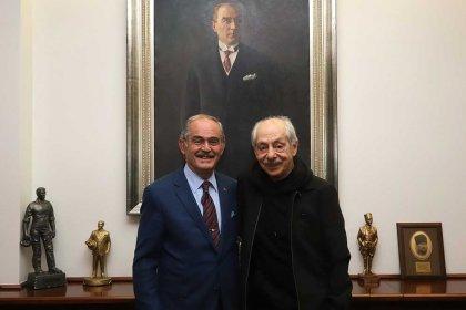 Genco Erkal'dan Eskişehir Büyükşehir Belediye Başkanı Yılmaz Büyükerşen'e ziyaret