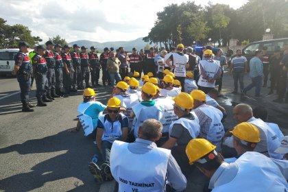 Hakları için Ankara'ya yürüyen madencilere engelleme