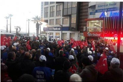 Harb-İş üyeleri Tank Palet fabrikası özelleştirilmesini protesto etti