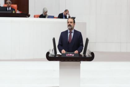 HDP'li Çelik, Nusaybin'de kira yardımları kesilmesine rağmen anahtar teslimi yapılmayan TOKİ evlerini Meclis'e taşıdı