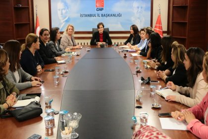 İBB CHP Kadın Meclisi'nden Kaftancıoğlu'na destek