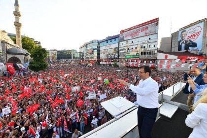 İBB'nin seçilmiş başkanı Ekrem İmamoğlu, Gaziosmanpaşa'da; 'Ben, bu şehrin insanlarını barıştırmaya kucaklamaya geliyorum'