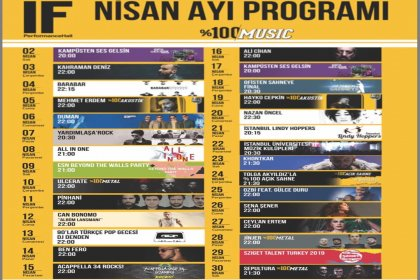 IF Performance Hall nisan ayı etkinlik programı belli oldu