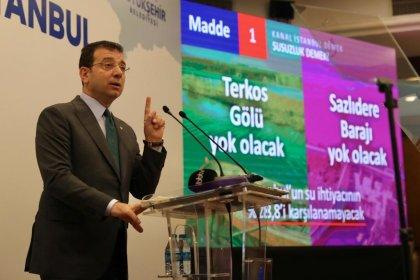 İmamoğlu: Kanal İstanbul her yönüyle ihanet, felaket, cinayet projesidir. Birileri para kazanacak diye şehrin yok edilmesine izin vermeyeceğiz