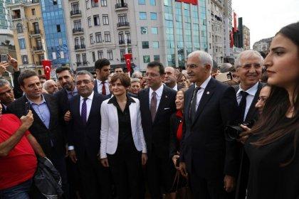 İmamoğlu'ndan Odakule'den Taksim Meydanı'na Cumhuriyet yürüyüşü