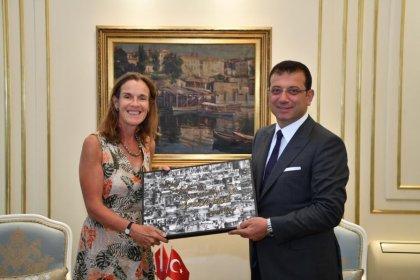 İngiltere İstanbul Başkonsolosu Judith Slater Ekrem İmamoğlu'nu ziyaret etti