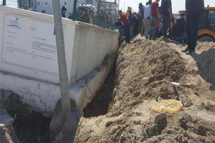 Konya'da istinat duvarı çöktü: 4 işçi enkaz altında kaldı