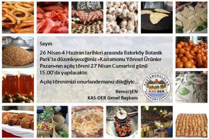 Kastamonu Yöresel Ürünler Pazarı 26 Nisan-4 Haziran tarihleri arası Bakırköy Botanik parkta