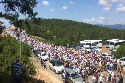Kaz Dağları'nda binlerce kişi maden sahasına girdi