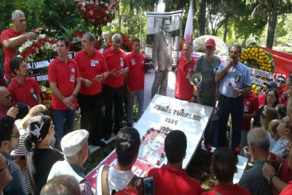 Kemal Türkler katledilişinin 39. yılında mezarı başında anıldı
