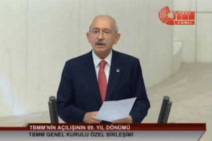 Kılıçdaroğlu 23 Nisan özel oturumunda Meclis Genel Kurulu'nda partili cumhurbaşkanlığı sistemini eleştirdi