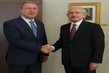 Kılıçdaroğlu, Bakan Akar'ı kabul etti