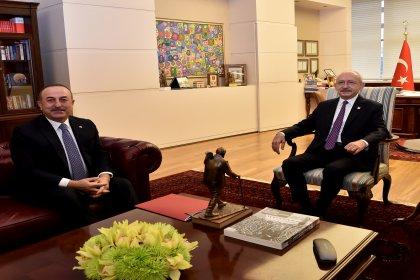 Kılıçdaroğlu, Dışişleri Bakanı Çavuşoğlu ile görüştü