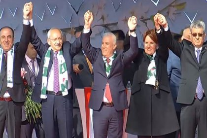 Kılıçdaroğlu ve Akşener Bursa'da düzenlenen ortak mitingde halka buluştu