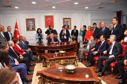 Kılıçdaroğlu ve Akşener'den İlkadım Belediyesi'ne ziyaret