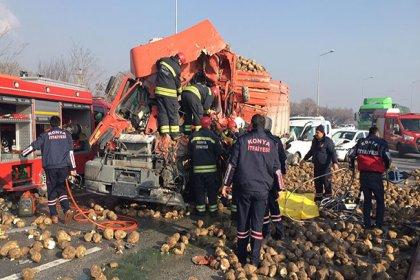 Konya'da zincirleme trafik kazası: 1 ölü, 5 yaralı