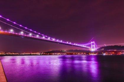 Köprüler epilepsi farkındalığı için mora büründü