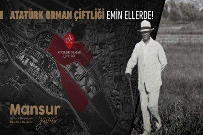 """Mansur Yavaş duyurdu; """"Atatürk Orman Çiftliği'ne ait iki parselin kiralama ihalesini belediyemizin şirketi Metropol İmar A.Ş. kazandı"""""""