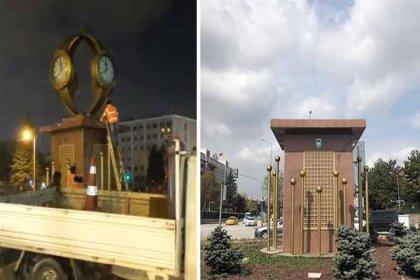 Mansur Yavaş talimat verdi, Gökçek'in diktirdiği 'Kol Saati' anıtı kaldırıldı