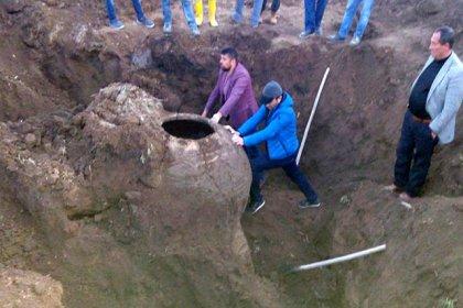 Niğde'de Bizans dönemine ait erzak küpü bulundu