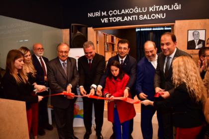 Nuri M. Çolakoğlu Kitaplığı ve Toplantı Salonu BAKSM'de açıldı