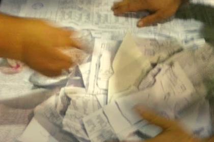Okul tuvaletinde yırtık oy pusulası bulundu