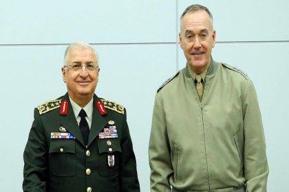Orgeneral Güler ile ABD'li mevkidaşı Dunford bir araya geldi