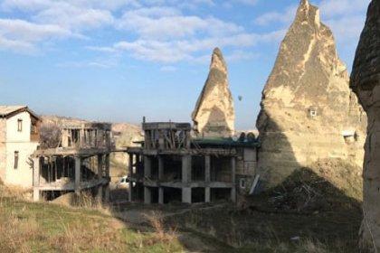 Peribacaları yakınındaki inşaat durduruldu