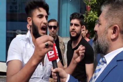 Sokak röportajında 'Kafa keseceğim' diyen kişi gözaltına alındı