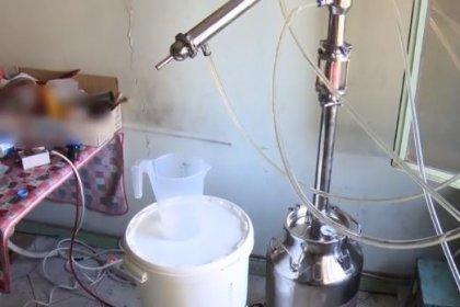 Süt sağma makinesiyle sahte içki üretmişler!