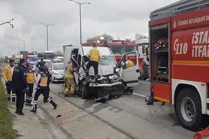 TEM Otoyolu Hadımköy Gişeler'de trafik kazası: 1 ölü, 2 yaralı