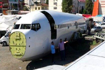 Trabzon'da pistten çıkan uçak millet kıraathanesi yapılacaktı; halk kaldırılmasını istiyor