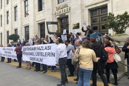 TRT çalışanlarından tasfiye protestosu