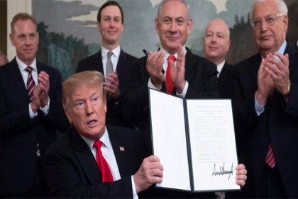 Trump Golan Tepeleri'ni İsrail toprağı olarak tanıyan kararnameyi imzaladı